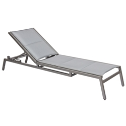 Woodard Palm Coast Padded Sling Adjustable Stacking Chaise Lounge - 570570
