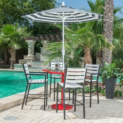 Woodard Palm Coast Slat 5 Patio Bar Set - WD-PALMCOAST-SET6