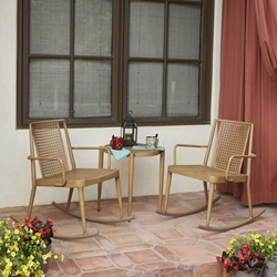 Woodard Parc 3 Piece Rocking Chair Set - WD-PARC-SET2