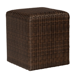 Woodard Woven Reticulated Cube in Coffee Wicker - S511921