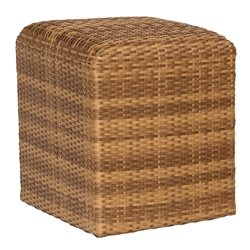 Woodard Woven Reticulated Cube in Mocha Wicker - S523921
