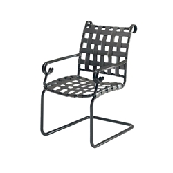 Woodard Ramsgate Strap Spring Base Dining Arm Chair - 160403
