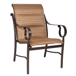 Woodard Ridgecrest Padded Sling Dining Arm Chair - 800501