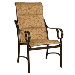 Woodard Ridgecrest Padded Sling High Back Dining Arm Chair - 800525