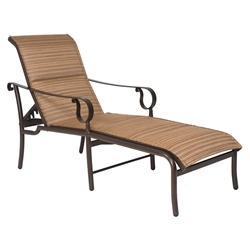 Woodard Ridgecrest Padded Sling Adjustable Chaise Lounge - 800570