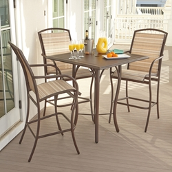 Woodard Rivington Aluminum Patio Bar Set for 3 - WD-RIVINGTON-SET2