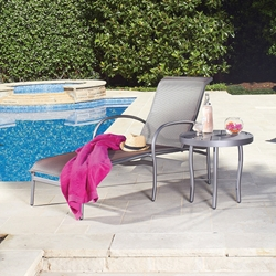 Woodard Rivington Adjustable Chaise with Side Table - WD-RIVINGTON-SET5