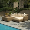 Woodard Saddleback 2 Piece Sectional Set with Tables - WHITECRAFT-SADDLEBACK-SET2