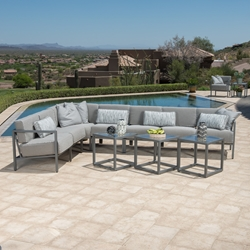 Woodard Salona Aluminum Patio Sectional Set - WD-SALONA-SET5
