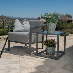 Woodard Salona Lounge Chair and Side Table Set - WD-SALONA-SET6