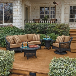 Woodard Serengeti Wicker Patio Sofa Set - WD-SERENGETI-SET2