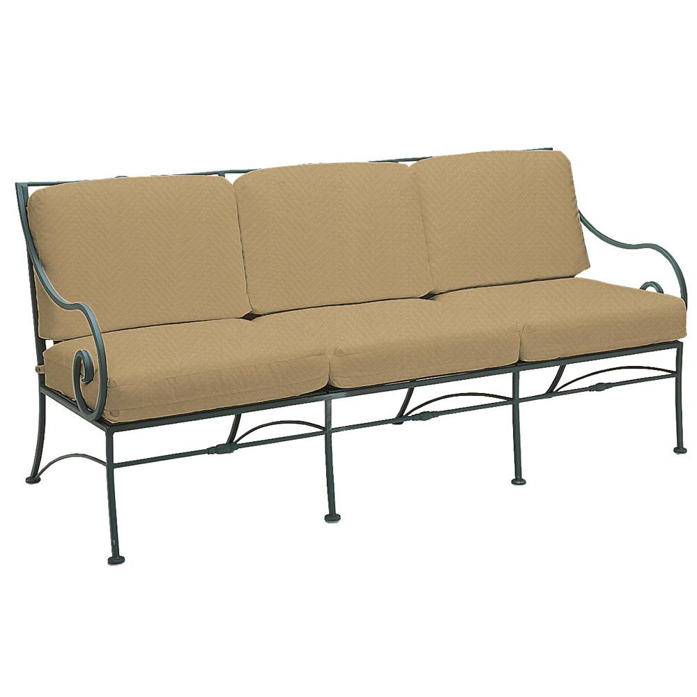 Woodard Sheffield Wrought Iron Sofa Patio Set Wd