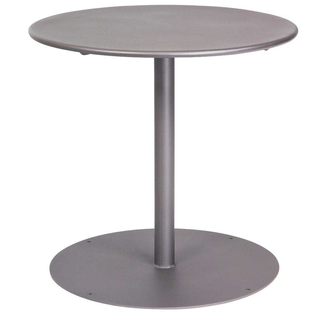 Woodard 30 Inch Round Solid Top Bistro Table w/ Pedestal Base - 13L3RD30