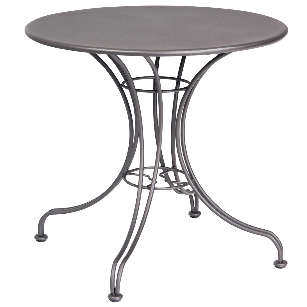 Woodard 30 Inch Round Solid Top Bistro Table w/ Universal Base - 13L4RD30