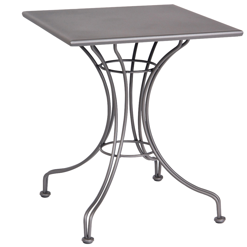 Woodard 24 Inch Square Solid Top Bistro Table w/ Universal Base - 13L4SD24
