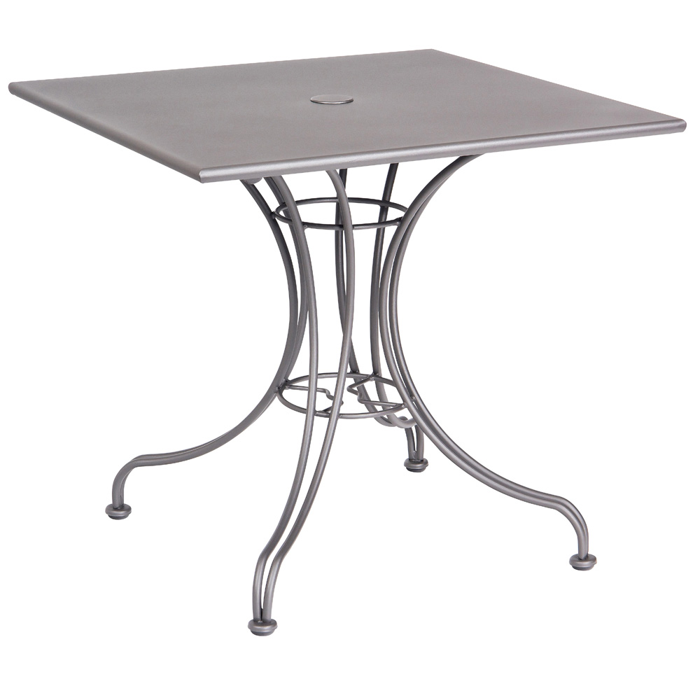 Woodard 30 Inch Square Solid Top Bistro Table W/ Universal Base   13L4SD30