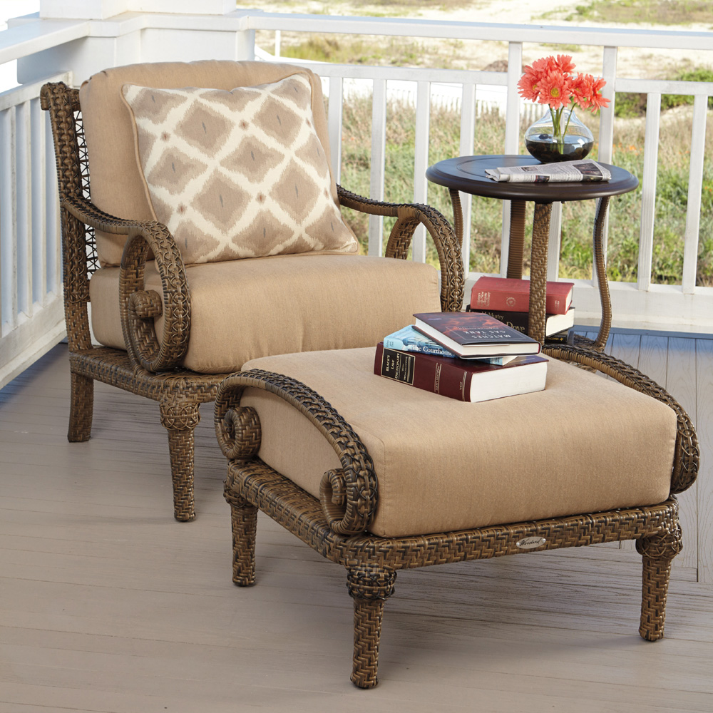 Woodard South Shore 3 Piece Wicker Lounge Chair Set   WD SOUTHSHORE SET4