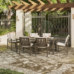 Woodard Spartan Cast Aluminum 7 Piece Patio Dining Set - WD-SPARTAN-SET2