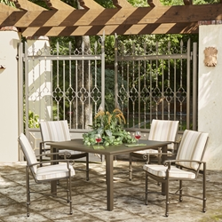 Woodard Spartan Cast Aluminum 5 Piece Patio Dining Set - WD-SPARTAN-SET5