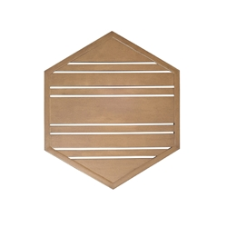 Woodard Tri-Slat 22 inch Hexagonal Top - 02623