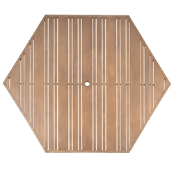 Woodard Tri-Slat 60 inch Hexagonal Top - 02662