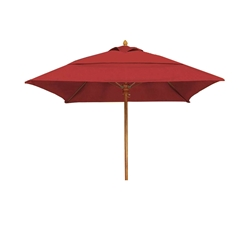 Woodard 7.5 Foot Square Fiberbuilt Bridgewater Umbrella - 1475BRSQW
