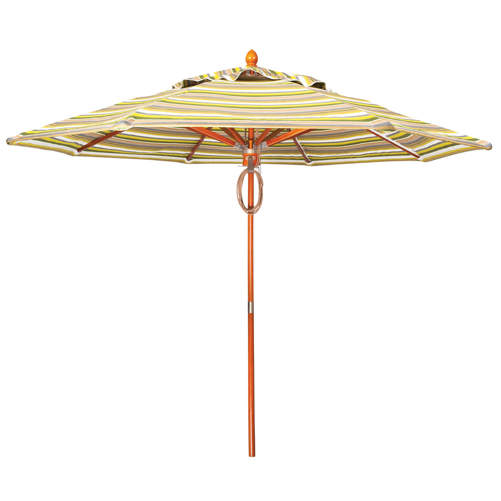 Woodard 9 Foot Teak Market Umbrella - 9821TW