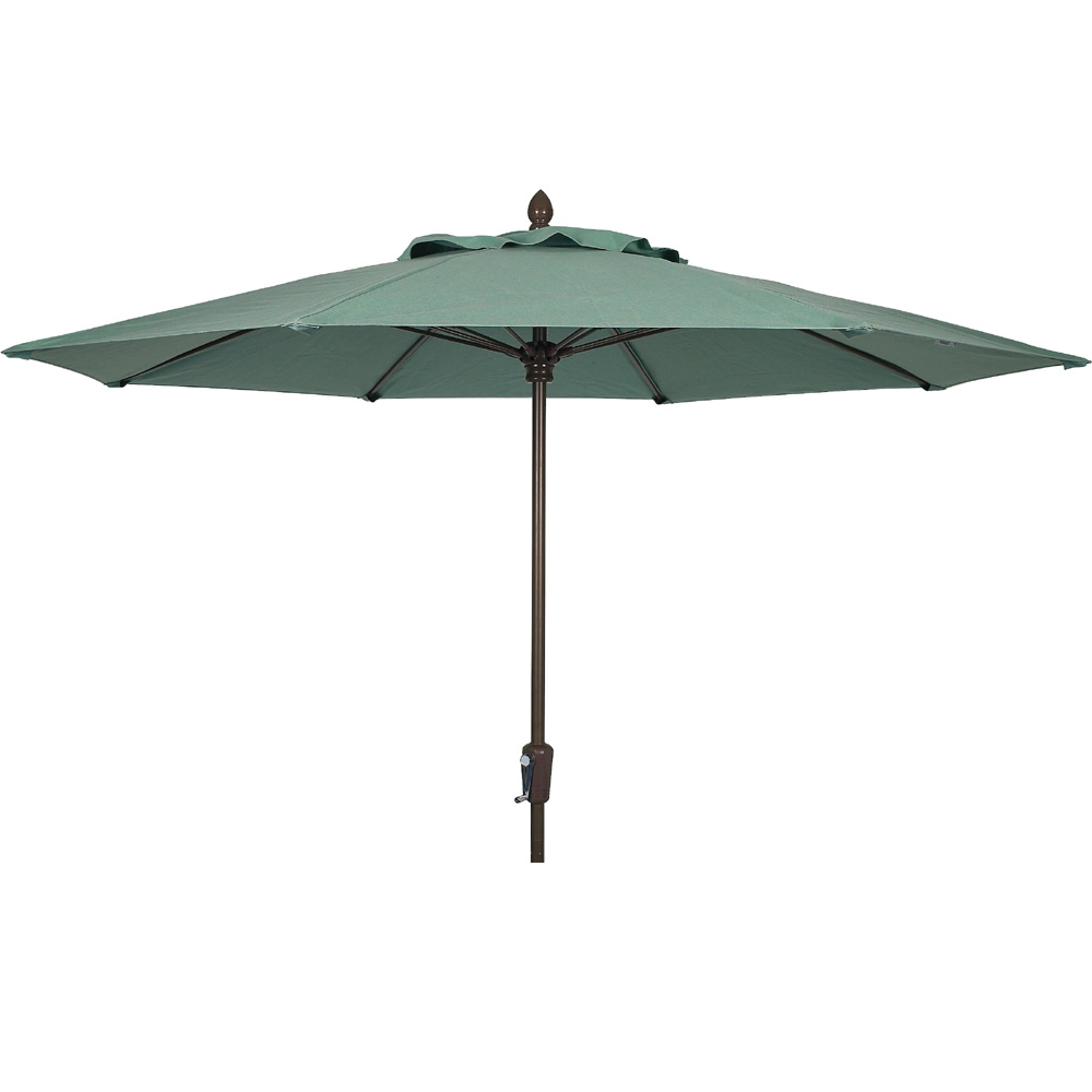 Woodard 9 Foot Aluminum Market Umbrella with Auto-Tilt - 9861