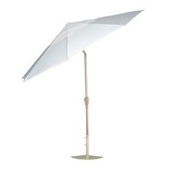 Woodard 9 Foot Aluminum Market Umbrella with Collar-Tilt - 9881