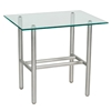 Woodard Uptown Glass Top End Table - 2H0039