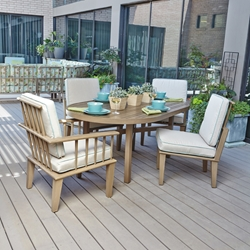 Woodard Van Dyke 5 Piece Patio Dining Set - WOODARD-VANDYKE-SET1
