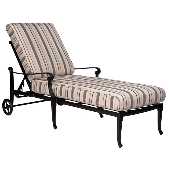 Woodard Wiltshire Adjustable Chaise Lounge 4q0470