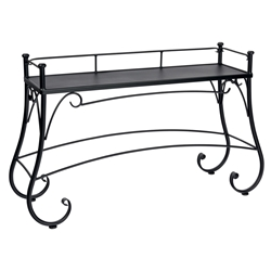 Woodard Wrought Iron Solid Top Console Table - 190202
