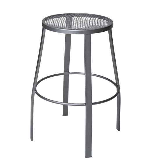 Awe Inspiring Woodard Universal Backless Bar Stool With Mesh Seat Squirreltailoven Fun Painted Chair Ideas Images Squirreltailovenorg